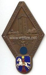 """NSKK - nichttragbare Teilnehmerplakette - """" NSKK III/58 Wolfenbüttel Zielfahrt 1934 nach Burg Wohldenberg """""""