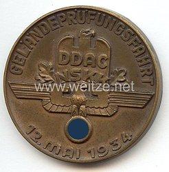 """NSKK / DDAC - nichttragbare Teilnehmerplakette - """" Geländeprüfungsfahrt rund um Insterburg 12. Mai 1934 """""""