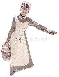 Lineol - 1. Weltkrieg Krankenschwester mit Eimer gehend