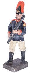 Lineol - 1. Weltkrieg Preussen Fagottbläser in blauer Uniform marschierend