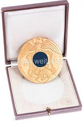 """III. Reich - nichttragbarer Ehrenpreis in Gold des Gaus Nr. 33 Göttingen - """" 15 Jahre NSDAP Göttingen 8.2.1937 """""""