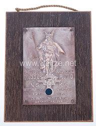 """NSKK - nichttragbare Teilnehmerplakette - """" Motorbrigade Nordsee 3. Mai 1936 Orientierungsfahrt im Weserbergland Sachsen Herzog Wittekind """""""