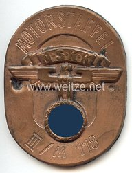 """NSKK - Kennzeichnungsplakette - """" Motorstaffel III/M118 """""""