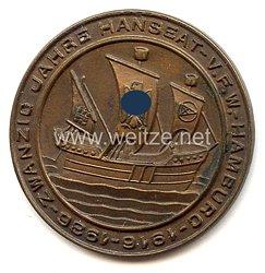 """III. Reich - Erinnerungsplakette - """" Zwanzig Jahre Hanseat-V.F.W.-Hamburg 1916-1936 """""""