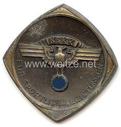 """NSKK - nichttragbare Auszeichnungsplakette - """" Für Sportliche Leistungen - Erkundungs- u. Orientierungsfahrt Winnenden u. Umgebung 20.3.1938 NSKK 14/M55 """""""