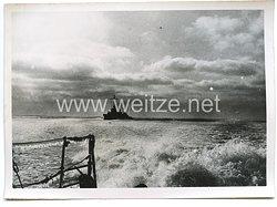 Kriegsmarine Pressefoto, Zerstörer auf Feindfahrt 1.3.1940