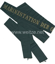 """Reichsmarine Mützenband """"Marinestation der Ostsee"""" in Gold"""