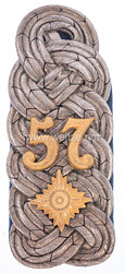 Preußen Einzel Schulterstück für einen Oberstleutnant im Infanterie-Regiment Herzog Ferdinand von Braunschweig (8. Westfälisches) Nr. 57