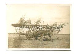 Luftwaffe Foto, Aufklärungsflugzeug mit Staffelwappen