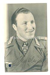 Wehrmacht Heer Portraitfoto, Ritterkreuzträger Hauptmann Angelmaier