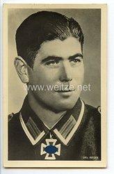 Heer - Portraitpostkarte von Ritterkreuzträger Unteroffizier Sebastian Reiser