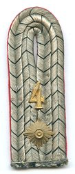 Preußen Einzel Schulterstück für einen Oberleutnant im Magdeburgischen Jäger-Bataillon Nr. 4