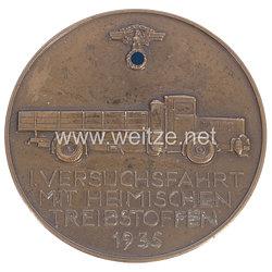 """NSKK Nichttragbare Teilnehmerplakette """"1. Versuchsfahrt mit heimischen Treibstoffen 1935"""""""