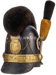 Königreich Bayern Kasket Modell 1818 für Mannschaften im 1. Jäger-Bataillon König