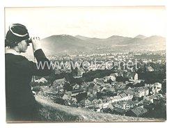 3. Reich Pressefoto: Bad Godsberg am Rhein, der Treffpunkt von Adolf Hitler mit Chamberlain 21.9.1938