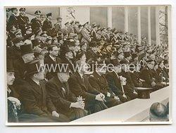 3. Reich Pressefoto: Ausländische Diplomaten beim Staatsakt im Berliner Lustgarten 1.5.1939