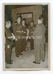 3. Reich Pressefoto: Die brasilianischen Flieger bei Generalfeldmarschall Göring 28.1.1939