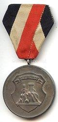 """III. Reich - tragbare Siegermedaille - """" Siegburg - Im Jahre der Nationalen Erhebung 100 jährige Fahnenweihe VIII. Solling-Bundesschiessen Carlshafen 1933 """""""