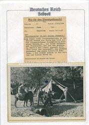 Luftwaffe Pressefoto: Am Rande der Vormarschstraße in Tunesien. 14.1.1943