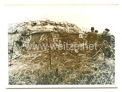 Wehrmacht Pressefoto: Eroberter Bunker der Maginot-Linie 24.6.1940