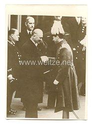 3. Reich Pressefoto: Präsident Lebrun in London 21.3.1939