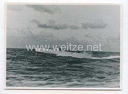 Kriegsmarine Pressefoto: Schnellboot im Einsatz