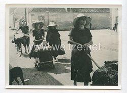 3. Reich Pressefoto: Französische Flüchtlinge die wieder zurückkehren