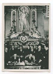 3. Reich Pressefoto: Reichsminister Ribbentrop und Außenminister Bonnet