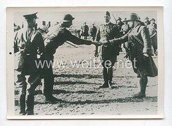 3. Reich Pressefoto: Übergabe eines französischen Bunker an britische Truppen