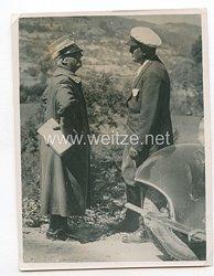 3. Reich Pressefoto: Der König von Italien und der Duce