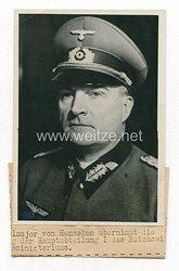 Wehrmacht Pressefoto: Generalmajor von Hanneken HauptabteilungI des Reichswirtschaftsministerium
