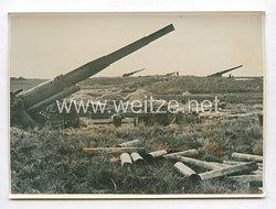 3. Reich Pressefoto: Eine im Sturm genommene sowjetische Küstenbatterie 18.12.1941