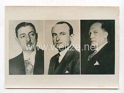 3. Reich Pressefoto: Der jugoslawische Ministerpräsident Zwetkowitsch, Prinzregent Paul und Jugoslawischer Außenminister Cinca-Markowitsch 5.3.1941