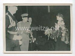 3. Reich Pressefoto: Das jugoslawische Prinzregentenpaar auf deutschen Boden 1.6.1939