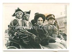 3. Reich Pressefoto: Prinzregent Paul in der Hauptstadt Kroatien 17.1.1940