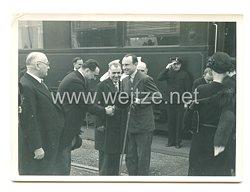 3. Reich Pressefoto: Prinzregent Paul am Bahnhof