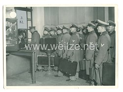 Wehrmacht Pressefoto: Soldaten haben Weihnachtsurlaub