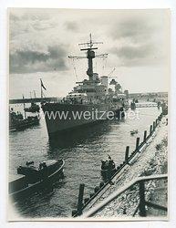 Reichsmarine Pressefoto: Großes Schlachtschiff