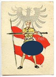 "HJ - farbige Propaganda-Postkarte - "" Hitlerjugend Unterbann I/79 Hildesheim ( Nr.1 ) """