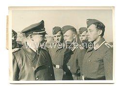 Luftwaffe Pressefoto:  Generalfeldmarschall Görings Besichtigungsreise an der Westfront 2.3.1940