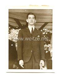 3. Reich Pressefoto: König Peter von Jugoslawien 15. Geburtstag