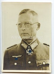 Heer - Portraitpostkarte von Ritterkreuzträger Generalmajor Karl Allmendinger
