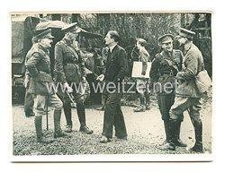 3. Reich Pressefoto: Ministerpräsident Chamberlain besucht seine Soldaten