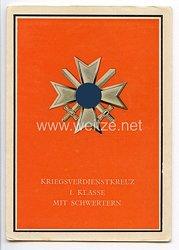 """III. Reich - farbige Propaganda-Postkarte - """" Die Kriegsorden des Grossdeutschen Reiches """" - Nr. 10"""