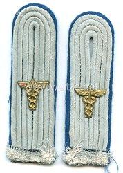 Wehrmacht Heer Paar Schulterstücke Leutnant des TSD Truppensonderdienst (Verwaltung)