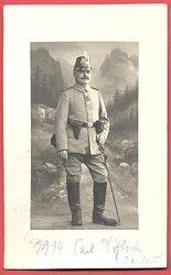 1. Weltkrieg Portraitfoto eines Preußen Offizier-Stellvertreter Jägertruppe
