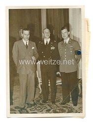 3. Reich Pressefoto: Gauleiter Bohle und dem Leiter der italienischen Auslandsorganisation Cicco