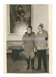3. Reich Pressefoto: Staatsminister Farinacci beim Stellvertreter des Führers Rudolf Hess