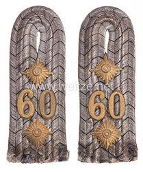 Preußen Paar Schulterstücke für einen Hauptmann im Infanterie-Regiment Markgraf Karl (7. Brandenburgisches) Nr. 60