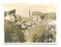 3. Reich Pressefoto: Graf Ciano besucht ein Bombengeschwader an der Atlantikküste